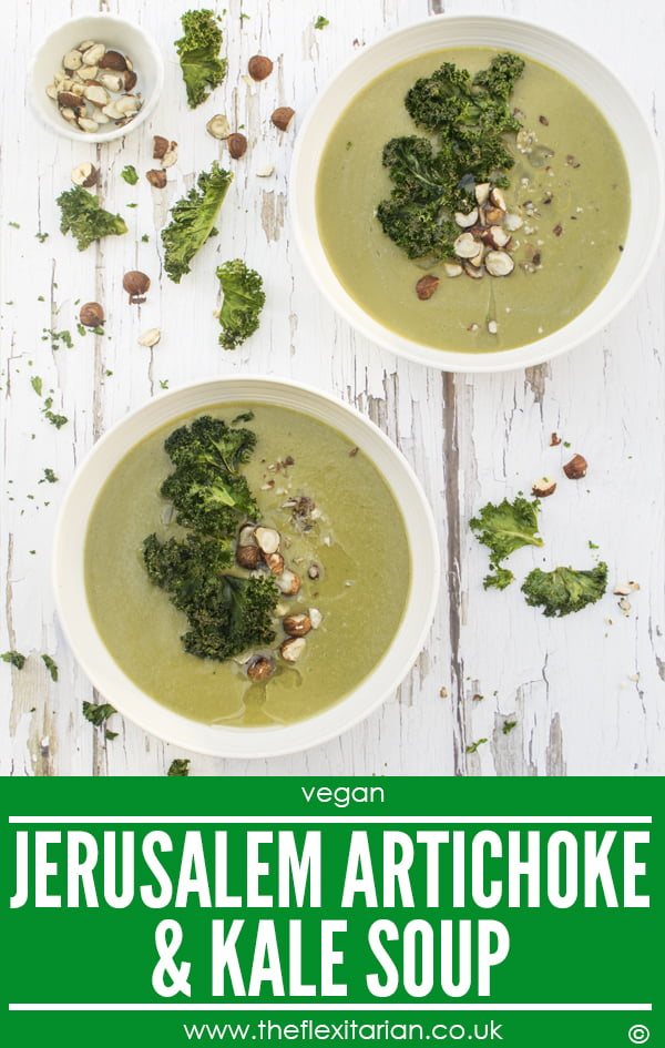 Jerusalem Artichoke & Kale Soup [vegan] by The Flexitarian - Annabelle Randles ©