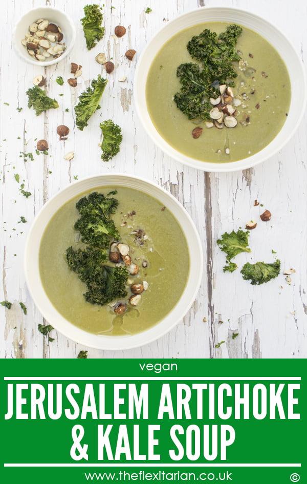 Jerusalem Artichoke & Kale Soup [vegan] by The Flexitarian - Annabelle Randles ©