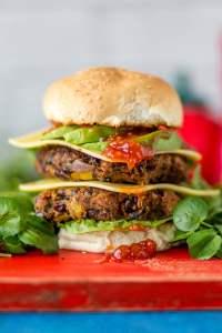 Black Bean & Watercress Burger [vegan] by Love Watercress