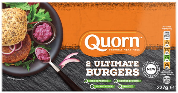 Quorn Unveils NEW Vegan Ultimate Burger