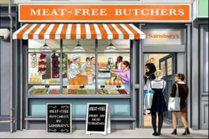 Sainsbury's opens the UK's first ever Meat-Free Butchers