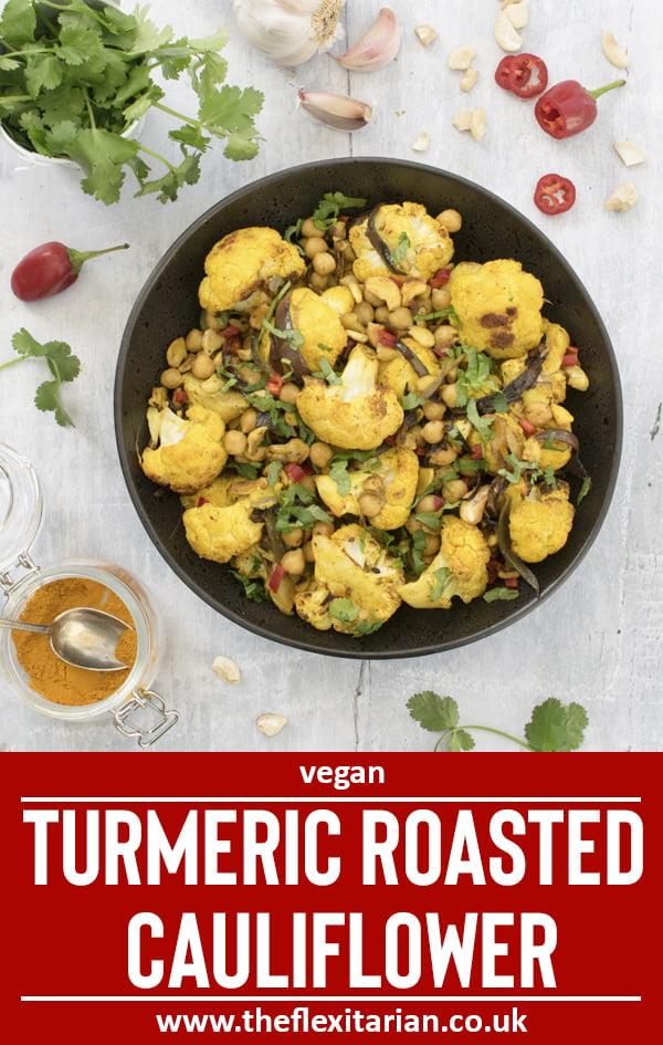 Turmeric Roasted Cauliflower by The Flexitarian © Annabelle Randles - Le Flexitarien