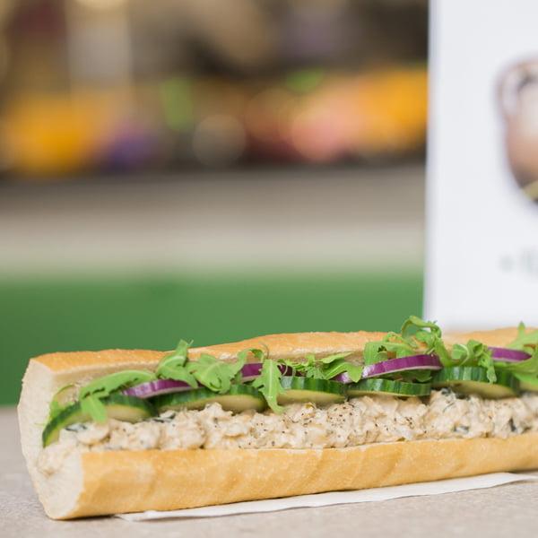 Veggie Pret - The Vegan Classics - The Vegan Chuna Mayo baguette