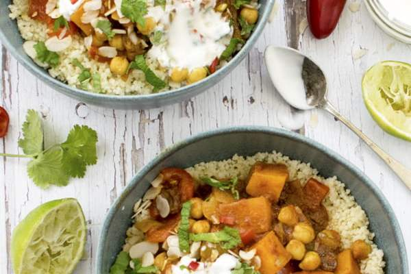 Sweet Potato & Chickpea Moroccan Stew [vegan] 2019 © Annabelle Randles The Flexitarian