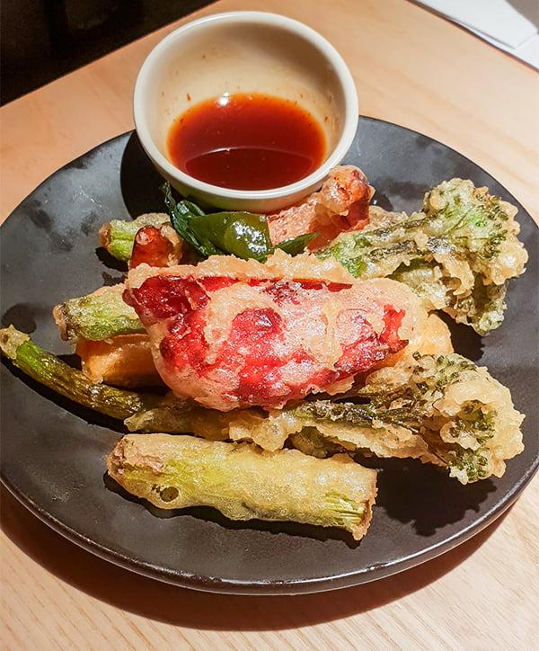 Wagamama new vegan vegetable tempura v62