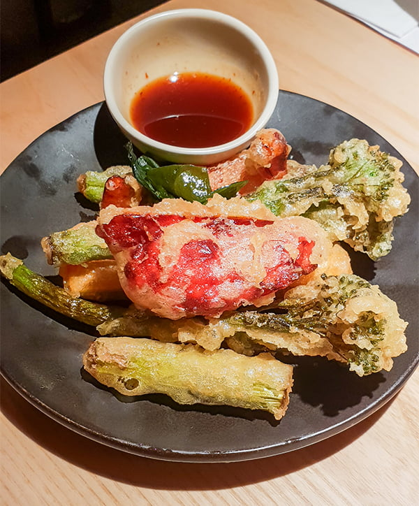 Wagamama new vegan vegetable tempura v62