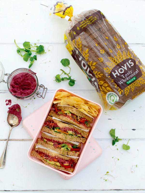 Beetroot Hummus Sandwich 2020 © Annabelle Randles | The Flexitarian