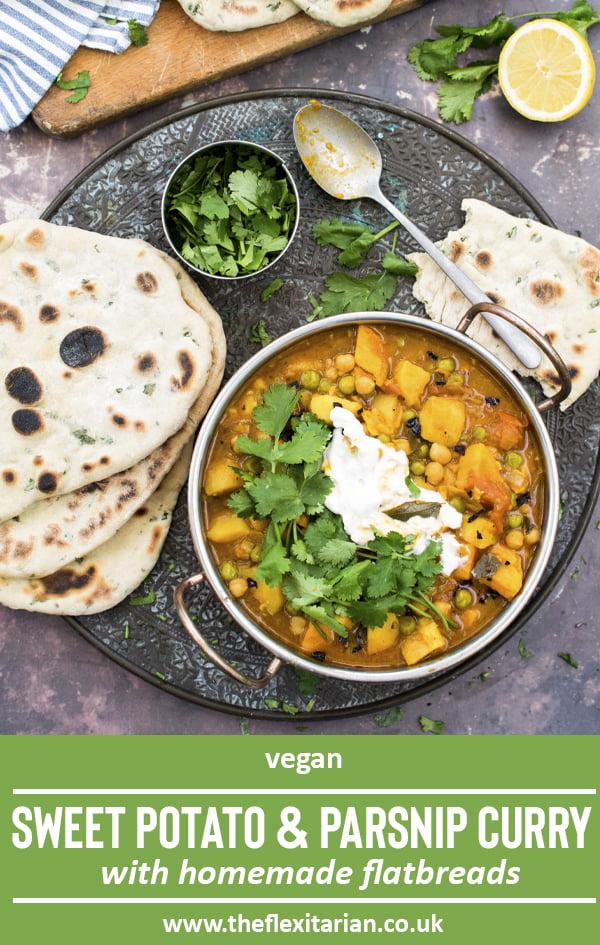 Sweet Potato & Parsnip Curry [vegan] 2020 © Annabelle Randles | The Flexitarian