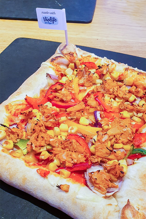 The NEW Pizza Hut Vegan Stuffed Crust Pizza