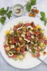 Watermelon & Halloumi Salad © Annabelle Randles   The Flexitari