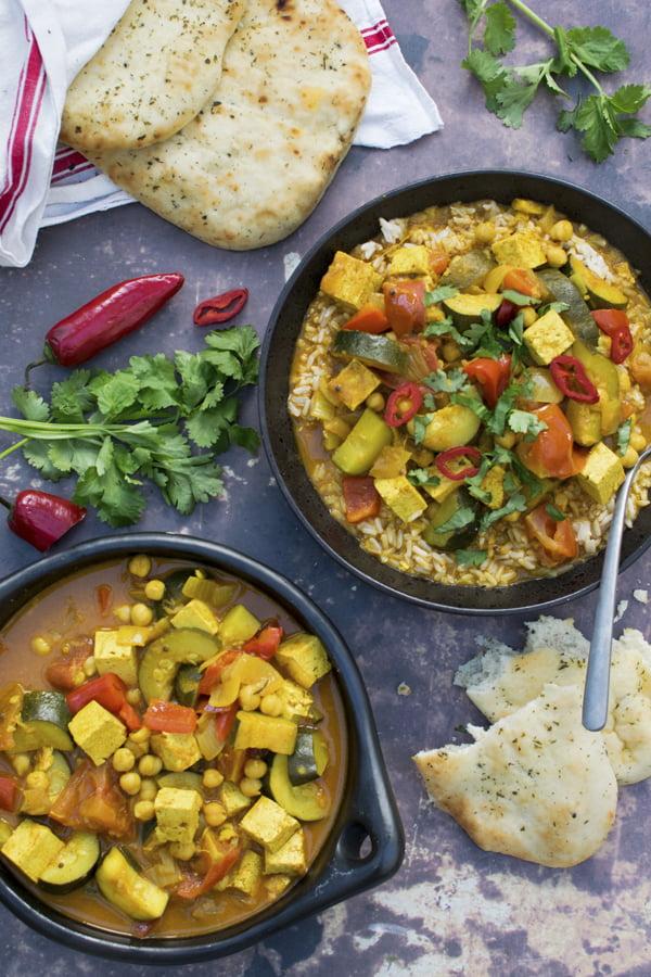Courgette & Tofu Curry [vegan] 2020 © Annabelle Randles | The Flexitarian