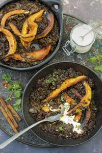 Roasted Winter Squash with Creamy Lentils | The Flexitarian