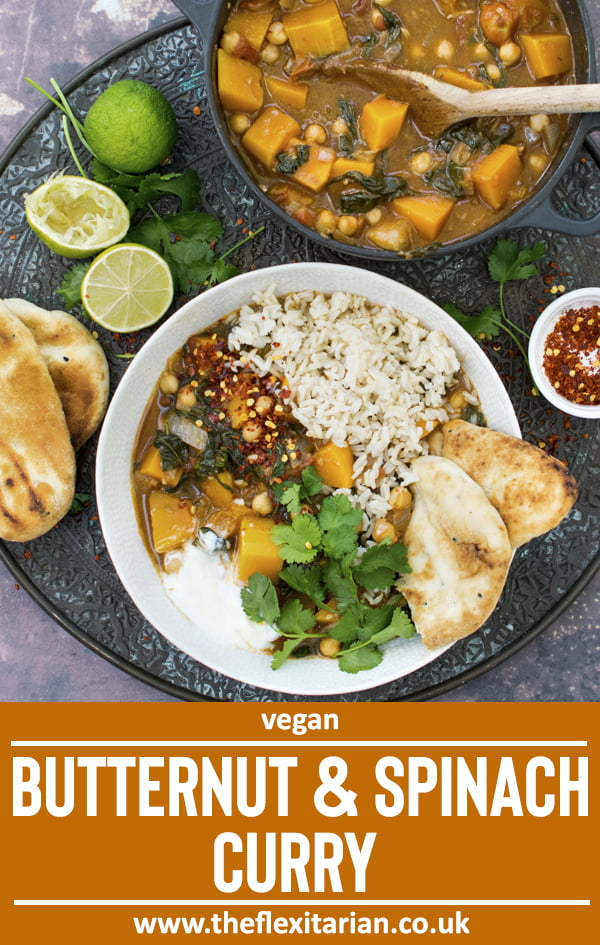 Butternut & Spinach Curry [vegan] © The Flexitarian