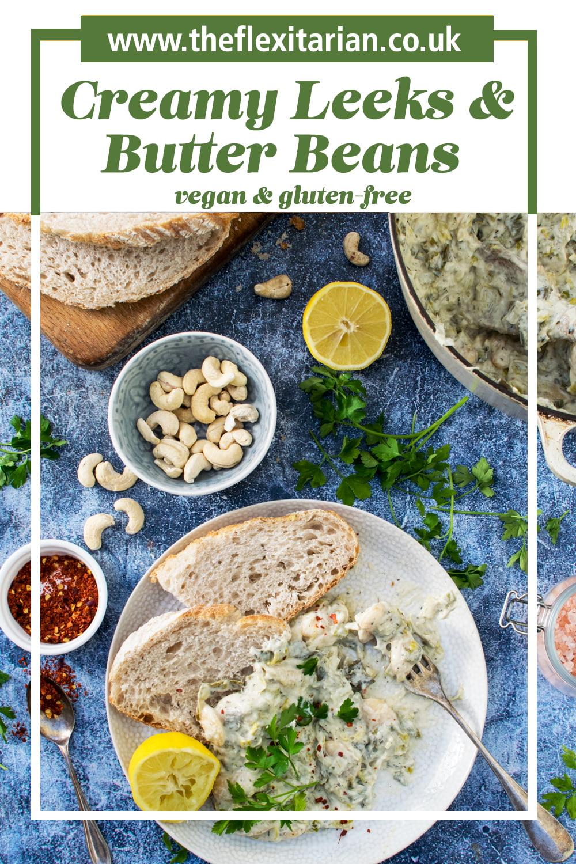 Creamy Leeks &; Butter Beans [vegan]