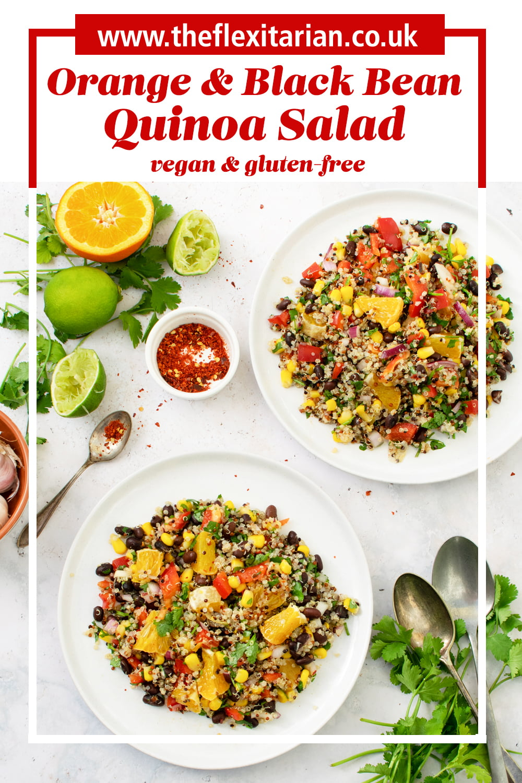 Orange & Black Bean Quinoa Salad [vegan] [gluten free]
