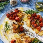 Roasted Potatoes and Tomatoes with Butter Bean Dip [vegan] [gluten free] | The Flexitarian