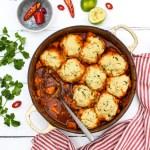 Sweet Potato Chilli with Coriander Dumplings [vegan] | The Flexitarian
