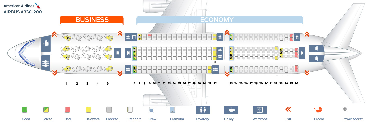 Seat Map Airbus A320 200 The Best American Airlines Seats Ranked