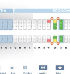 seat map of the mcdonnell douglas md 83 [ 1772 x 500 Pixel ]