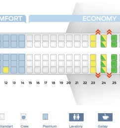 seat map of the mcdonnell douglas md 88 [ 1662 x 500 Pixel ]