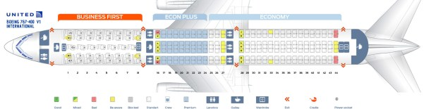 Seat Map Of The Boeing 767 400er 764 Intl United Airlines 300 V2