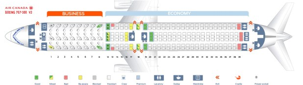 Seat Map Air Canada Boeing 767 300 Version 2