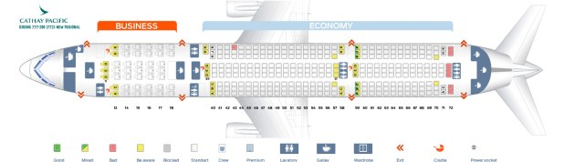 Seat Map Boeing 777 200 Cathay Pacific Best Seats In The Plane New Regional