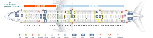 Seat Map Boeing 777 300er Three Class Cathay Pacific