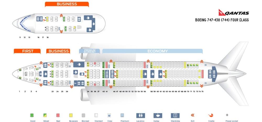 medium resolution of seat map boeing 747 438 four class qantas airways
