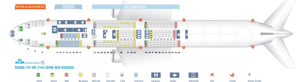 medium resolution of seat map boeing 747 400 combi new business klm airlines