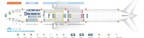 small resolution of seat map boeing 747 400 combi new business klm airlines