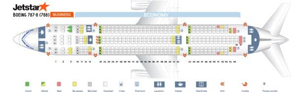 Seat Map Boeing 787 8 Dreamliner Jetstar Best Seats In The Plane