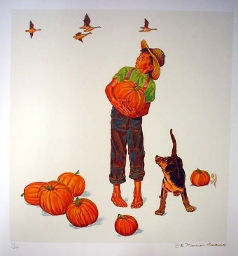 Autumn Harvest.Rockwell.Litho