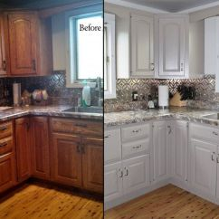 Repainting Kitchen Cabinets Redo Ideas Painted The Flooring Blog