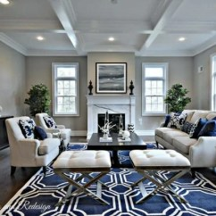 Dark Floors Grey Walls Living Room Contemporary With Tv And Fireplace Decorating Rooms Gray The Flooring Girl A Hardwoods Paint Navy Area Rug