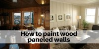 How to paint wood paneled walls and shiplap