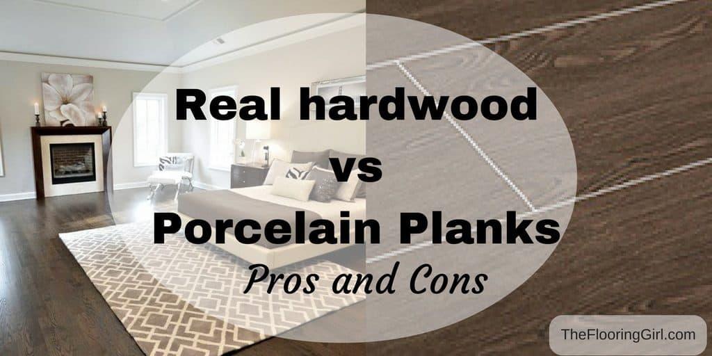 hardwood flooring vs tile planks that