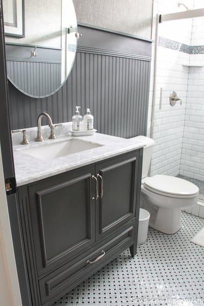 21 Modern Farmhouse Style Bathrooms for a Rustic Shabby Chic Look  The Flooring Girl