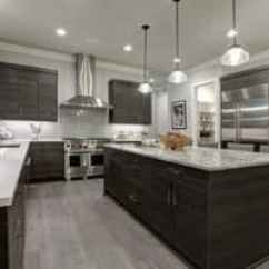 Kitchen Flooring Trends Black Trash Bags For 2019 Real People The Porcelain Tile That Looks Like Wood Gray Modern