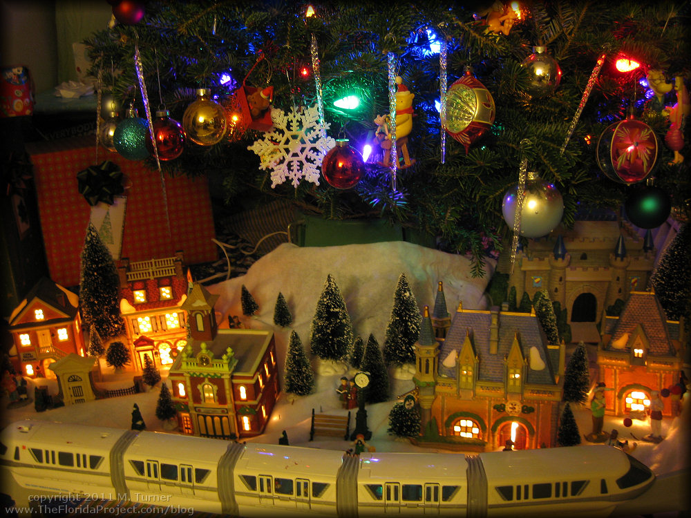 Our New And Improved 2011 Monorail And Village Under Tree