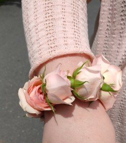 Prom Corsage Pretty Pink Roses