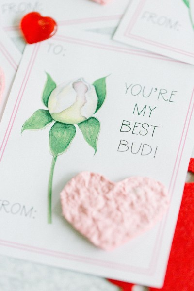 Valentine Printable Card with flower pun