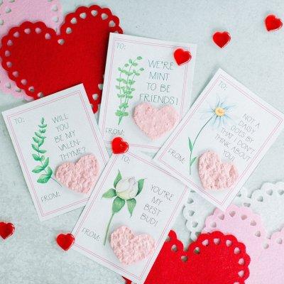 Free Printable Flower Valentine Cards