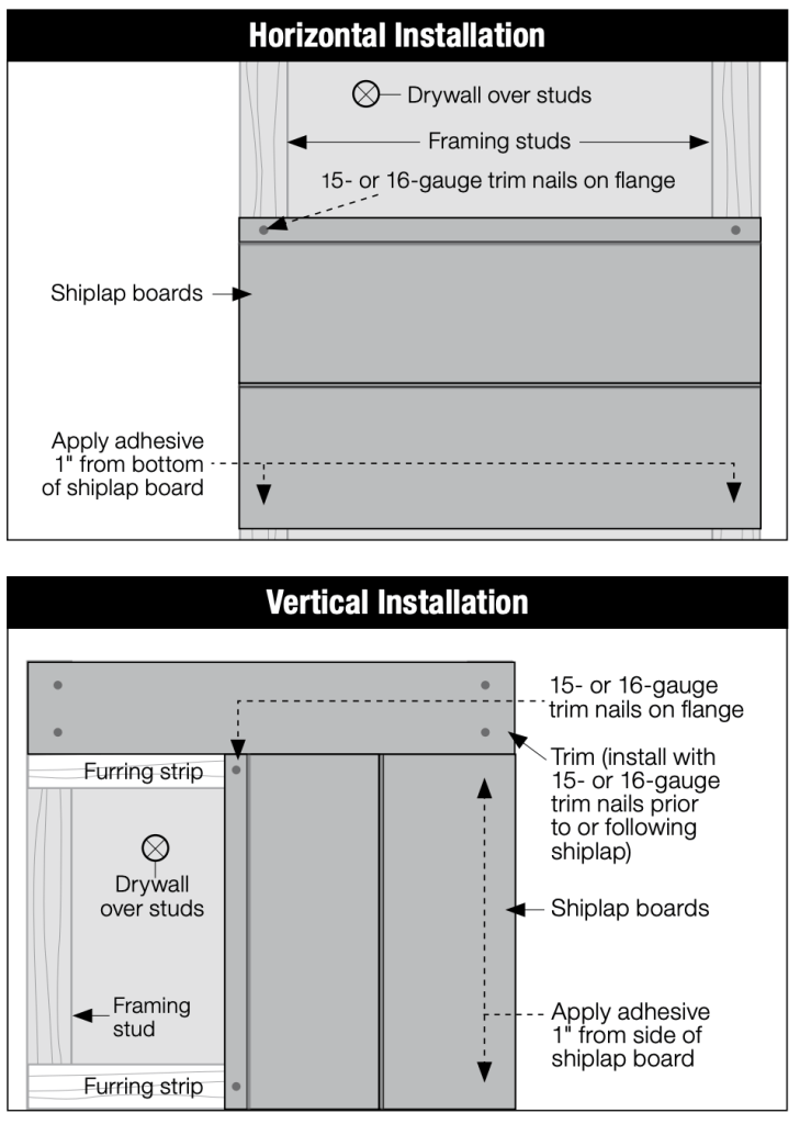 shiplap instructions