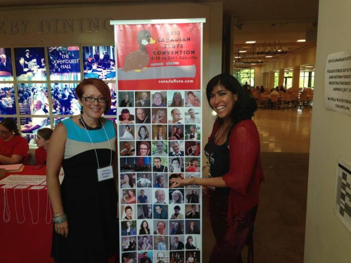 Christine Erlander Beard & Viviana Guzman at the Canadian Flute Convention