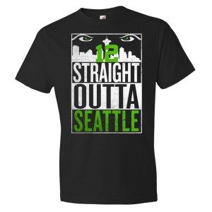 FLVR Seattle 12s – Straight Outta Seattle Short sleeve t-shirt