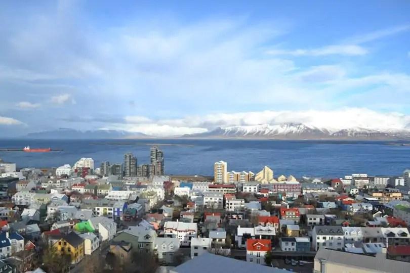 View over Reykjavik city