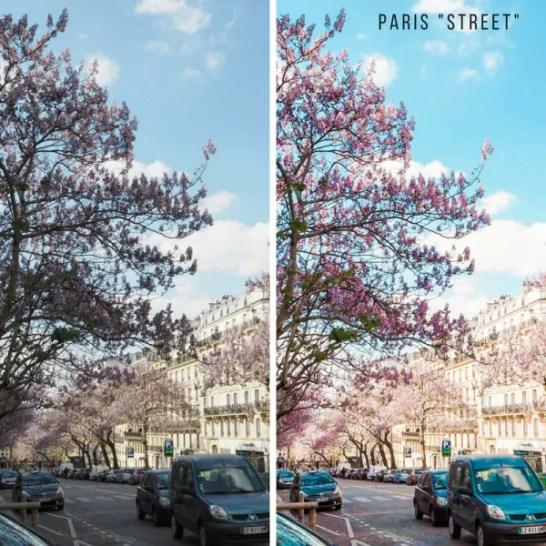 Paris Lightroom presets for photo editing