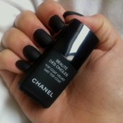 beaute des ongles top coat velvet.interpretation black