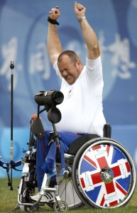 John Stubbs after winning the gold at the Beijing Olympics